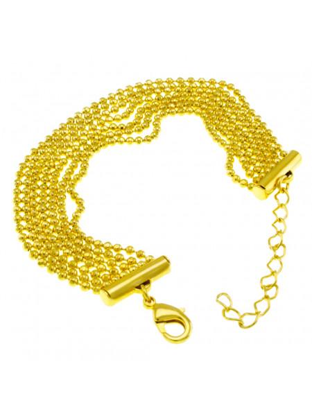 Pulseira Sete Fios Banhada Em Ouro Amarelo 18 k - 1080020
