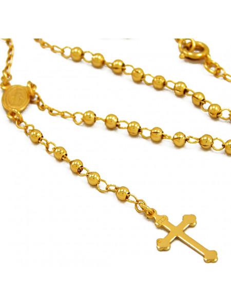 Gargantilha Santo Rosário Banhada Ouro 18 k - 1060007