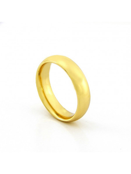 Aliança Anatômica 5 mm - Banhada em Ouro 18 k -1010022