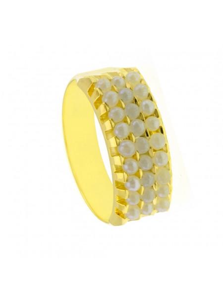 Aliança Tripla Horus Import Banhada Ouro Amarelo 18 K - 1010081
