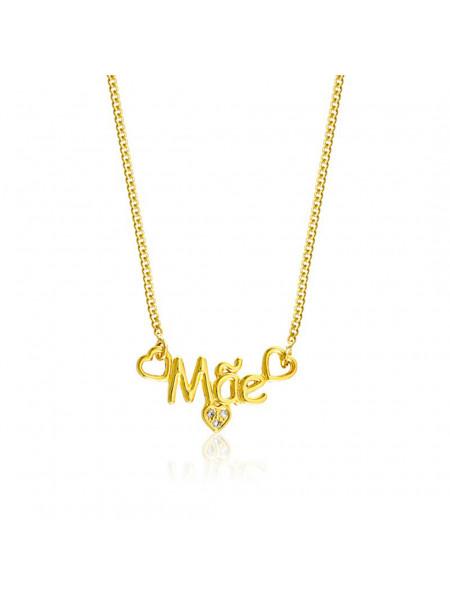 Gargantilha Amor Mãe Horus Import Banhada em Ouro Amarelo 18 K - 1061199