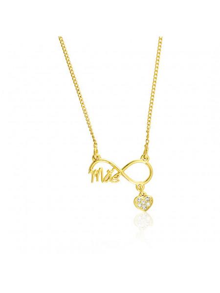 Gargantilha Infinito Mãe Horus Import Banhada em Ouro Amarelo 18 K - 1061200