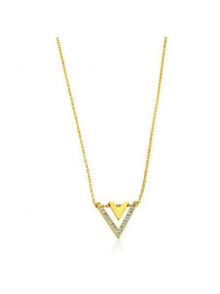 Gargantilha Modern Banhada em Ouro 18 K - 1061219