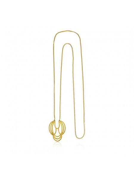 Gargantilha Maxi Banhada em Ouro 18 K - 1061221