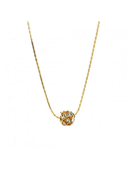 Gargantilha Strass Cristal Banhada Ouro 18 k - 1060021