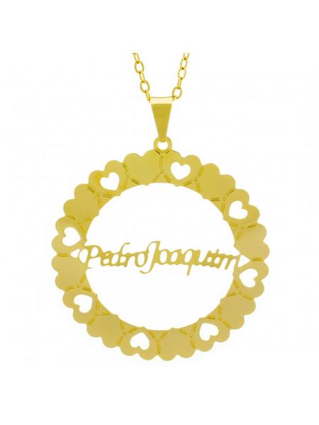 Gargantilha Pingente Mandala Manuscrito PEDRO JOAQUIM Banho Ouro Amarelo 18 K - 1061388