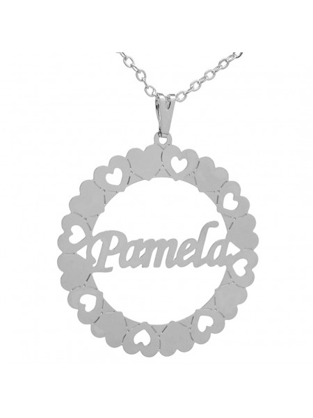 Gargantilha Pingente Mandala Manuscrito PAMELA Banho prata 1000 - 2060175