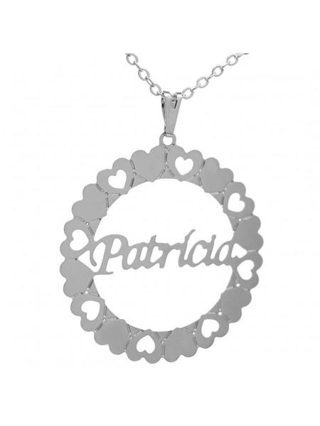 Gargantilha Pingente Mandala Manuscrito PATRÍCIA Banho prata 1000 - 2060176