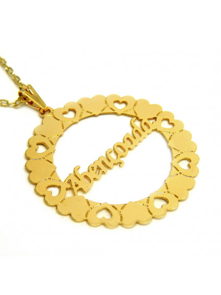 Gargantilha Pingente Mandala Abençoada Banho Ouro 18 k - 1060018