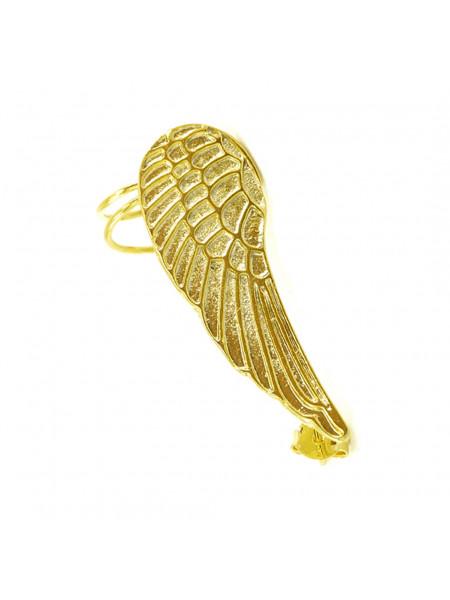 Brinco Ear Cuff Asa Direita Banhado Em Ouro 18 k - 1030046
