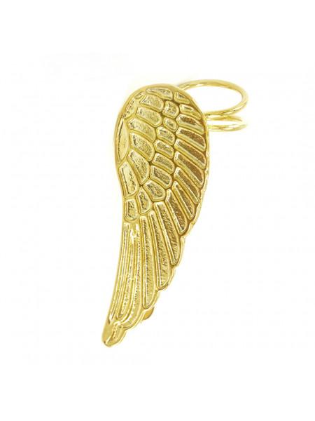 Brinco Ear Cuff Asa Esquerda Banhado Em Ouro Amarelo 18 k - 1030047
