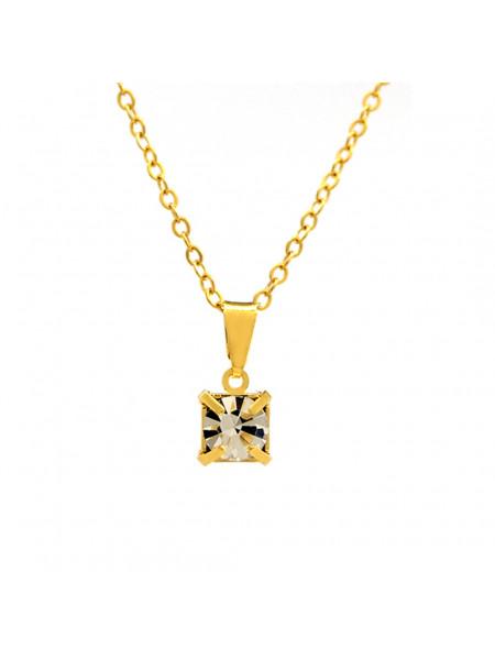 Gargantilha Ponto De Luz Cristal Banhada Ouro 18 K - 1060156