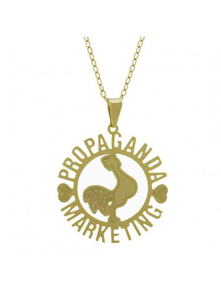 Gargantilha Profissões Pingente PROPAGANDA & MARKETING Banhada Ouro Amarelo 18K - 1061275