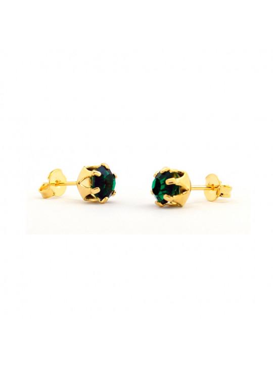 Kit Horus Import  2 Brincos Ponto de Luz - Banhado em Ouro 18 K - KIT10556