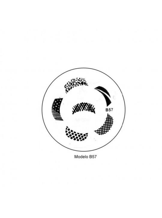 Placa Personalização Unhas B57 - Desenhos Artísticos-UNH10016