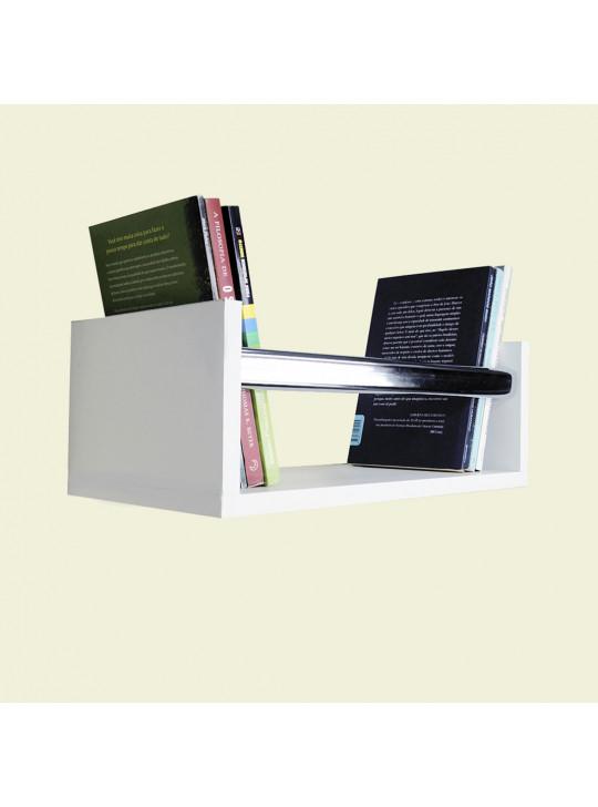 Prateleira U para Livros Marce Forming 40x15x20cm 100% MDF Branco - 1100012