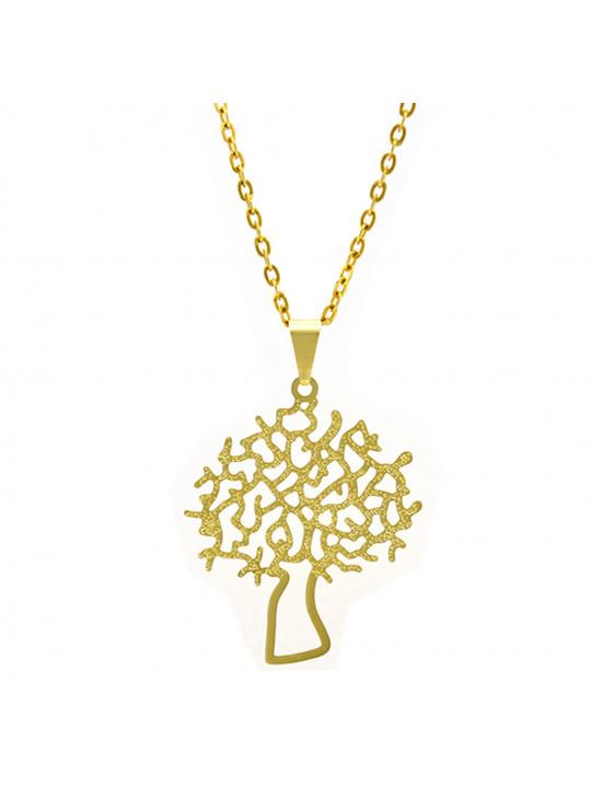 Gargantilha Horus Import Árvore da Vida Banhada Ouro Amarelo 18 K 1060166