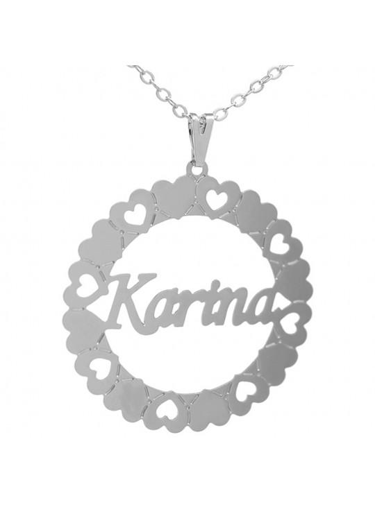Gargantilha Pingente Mandala Manuscrito KARINA Banho prata 1000 - 2060152