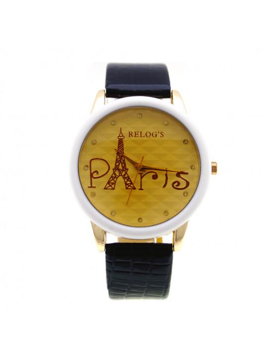 Relógio Feminino Paris III Preto 32063 Analógico Relog's - REL19107