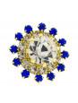 Par Brincos Girassol Cristal Banhado Ouro 18K 1030034
