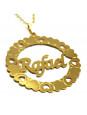 Gargantilha Pingente Mandala Manuscrito RAFAEL Banho Ouro 18 K - 1060057