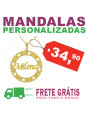 Gargantilha Mandala Nome Personalizado Banhada Ouro 18K - 1060022